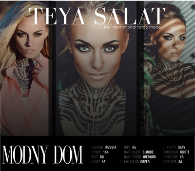 The international tatoo model TEYA SALAT
